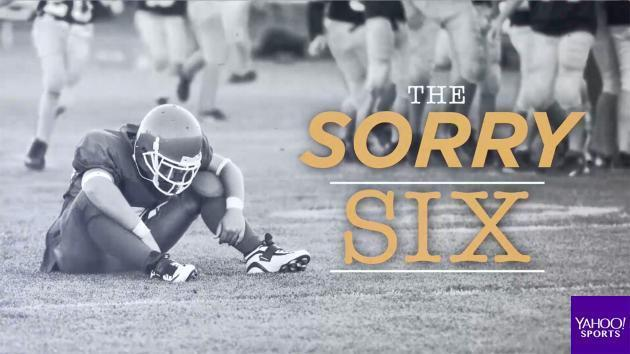 "Introducing the NFL's ""Sorry Six"""