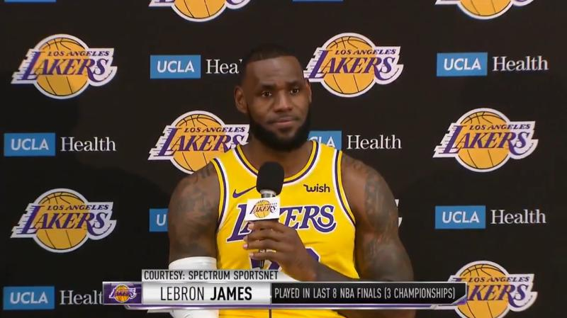 255c6b469 LeBron James on the Lakers   Long way to go  to catch the Warriors