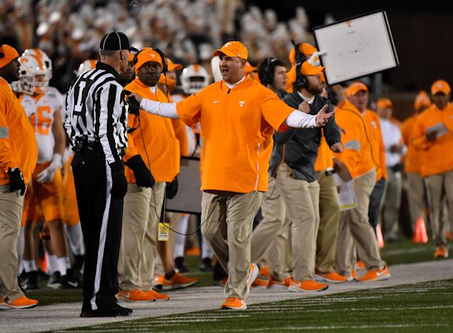 Tennessee is now 6-5 after being 2-5. (Photo by Ed Zurga/Getty Images)