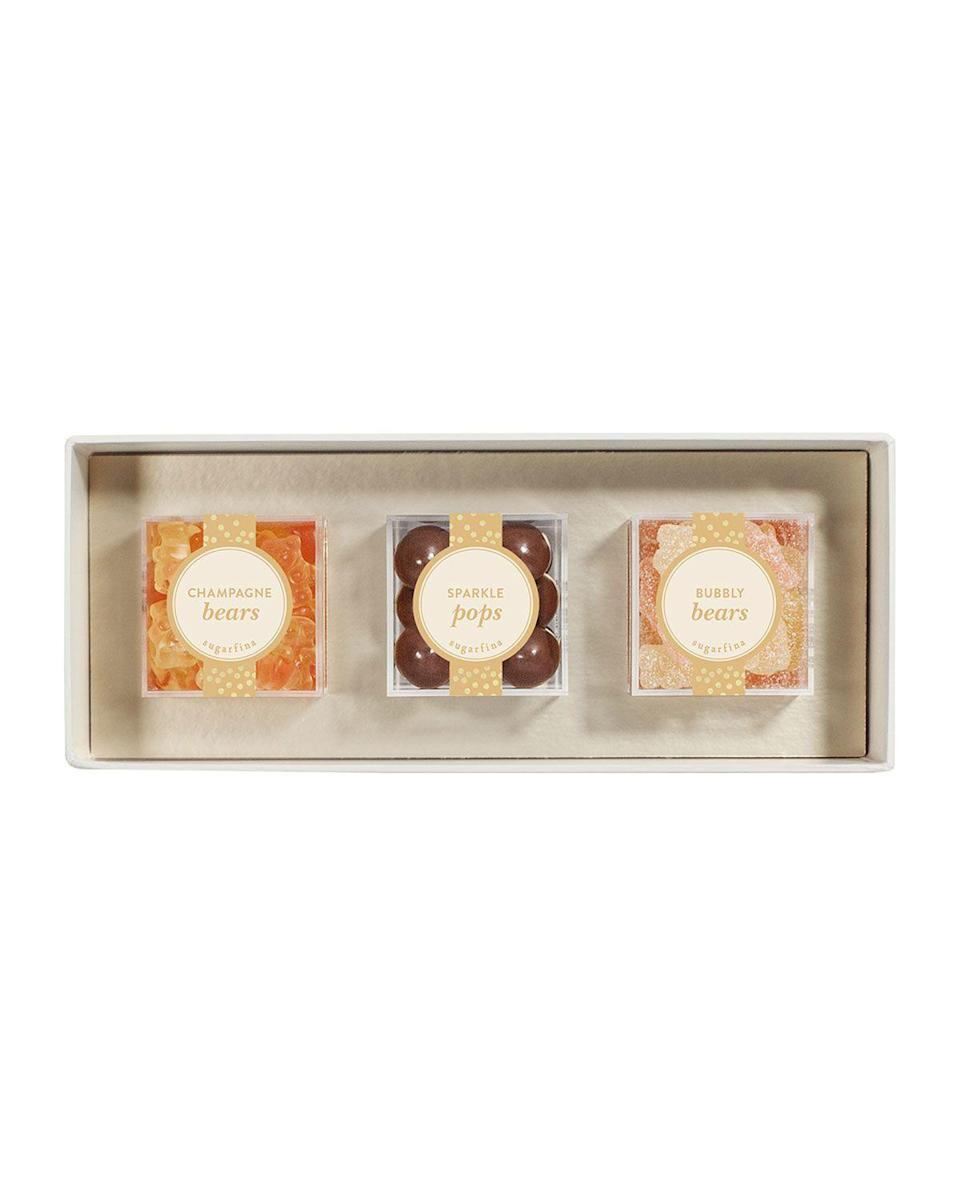 """<p><strong>Sugarfina</strong></p><p>https://www.neimanmarcus.com</p><p><strong>$28.00</strong></p><p><a href=""""https://go.redirectingat.com?id=74968X1596630&url=https%3A%2F%2Fwww.neimanmarcus.com%2Fp%2Fsugarfina-sweet-and-sparkling-3-piece-candy-bento-box-prod232460010&sref=https%3A%2F%2Fwww.delish.com%2Fholiday-recipes%2Fvalentines-day%2Fg4526%2Fgifts-for-girlfriend%2F"""" rel=""""nofollow noopener"""" target=""""_blank"""" data-ylk=""""slk:BUY NOW"""" class=""""link rapid-noclick-resp"""">BUY NOW</a></p><p>We wish every bento box came with Champagne Bears, Sparkle Pops, and Bubbly Bears.</p>"""