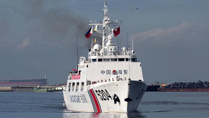 China's coast guard said it intercepted the ship off the coast of the southern province of Guangdong on Sunday morning