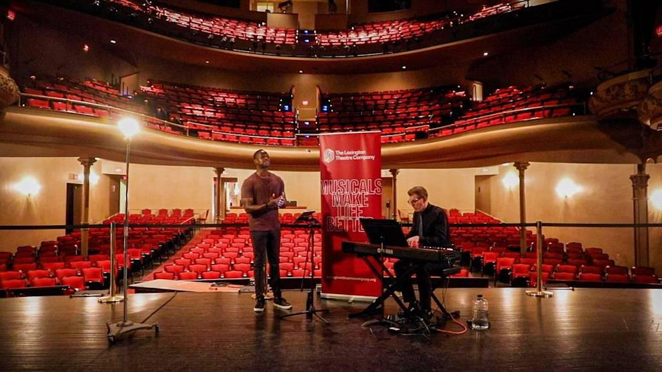 """Darian Sanders practices for his weekend """"Concert with the Stars"""" performance July 14 the Opera House. Sanders was a part of the first """"Concert with the Stars"""" in 2015."""