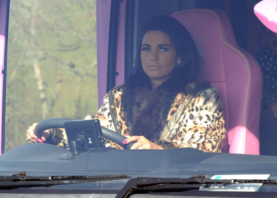 WEST SUSSEX, UNITED KINGDOM - FEBRUARY 19:  *** EXCLUSIVE ***   Katie Price, Alex Reid and family are sighted as they prepare for a day out, on February 19, 2010 in West Sussex, England. (Photo by Jeremy B. Brett/FilmMagic)