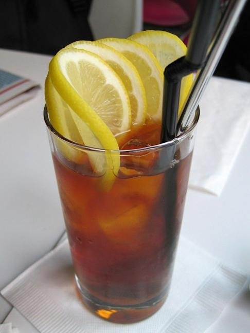 An iced lemon tea can contain as much as six spoons of sugar. Photo: Handout