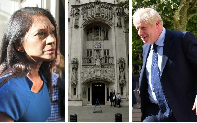 Gina Miller (left) and Boris Johnson (right) who were front and centre this week at the Supreme Court - Bloomberg/PA