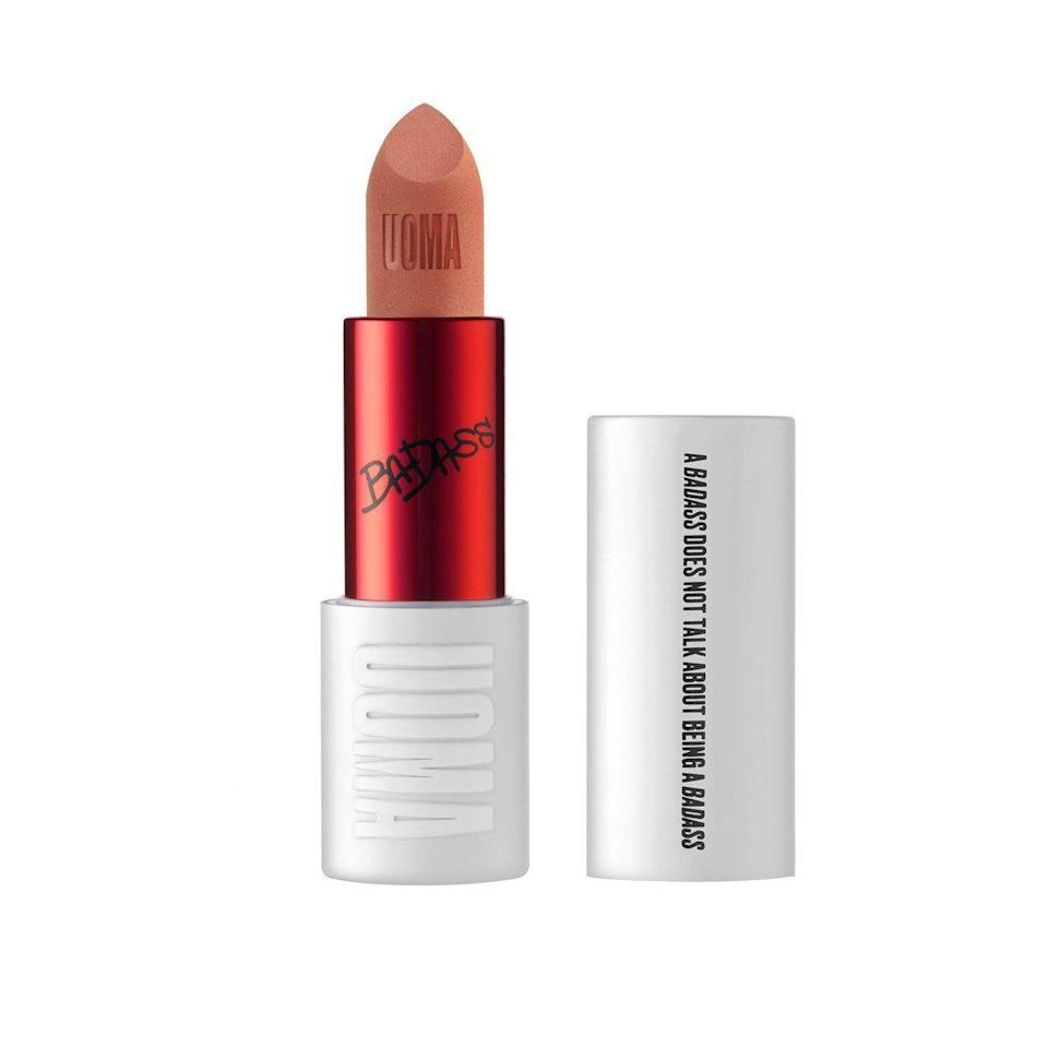 "<p><strong>Uoma</strong></p><p>uomabeauty.com</p><p><strong>$39.00</strong></p><p><a href=""https://uomabeauty.com/products/badass-icon-matte-lipstick?variant=13333861892195"" rel=""nofollow noopener"" target=""_blank"" data-ylk=""slk:SHOP"" class=""link rapid-noclick-resp"">SHOP</a></p><p>Osbourne suggests that women with darker to deep skin tones lean toward honey tones. This light tan matte lipstick is one of his top picks. </p>"