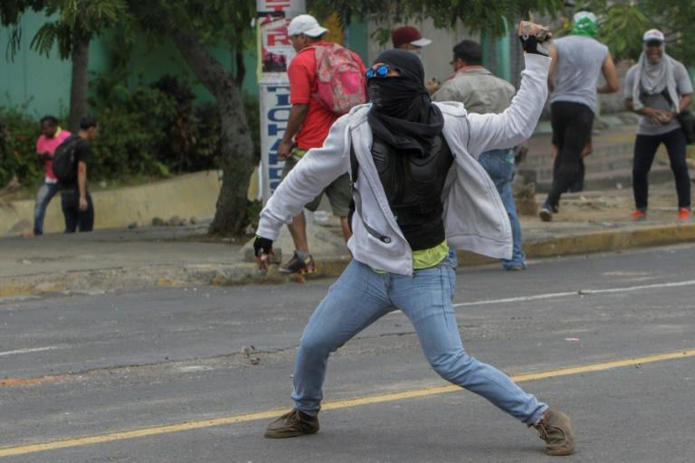 Protesters are rocking the capital Managua for a third straight day