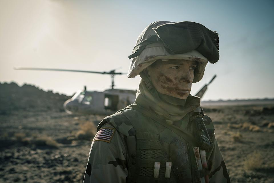 "Tom Holland plays an Iraq War veteran with PTSD in ""Cherry."""
