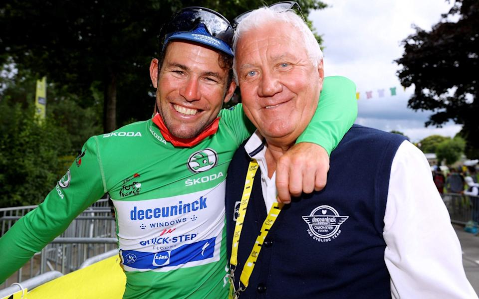 Mark Cavendish and Patrick Lefevere - Mark Cavendish interview: 'I'm going to get better, I wasn't even back to my best this year' - GETTY IMAGES