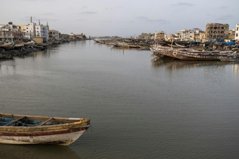 With its unique layout surrounded by water, Saint-Louis is on the frontline against rising sea levels and coastal erosion (AFP/JOHN WESSELS)