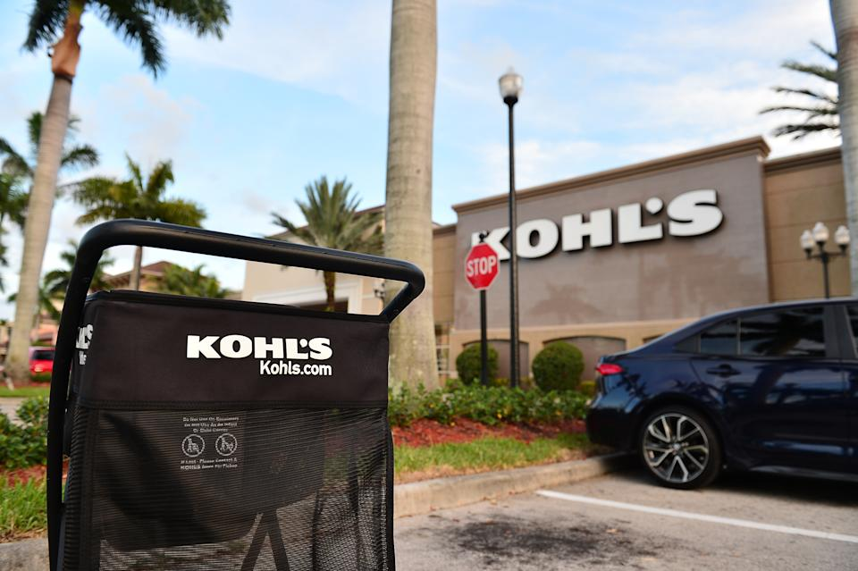 MIRAMAR, FLORIDA - JULY 16: A view outside a Kohls store on July 16, 2020 in Miramar, Florida.  Some large US companies require masks to be worn in their stores when they enter to control the spread of COVID-19.  (Photo by Johnny Louis / Getty Images