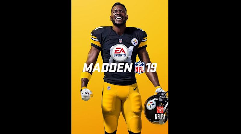 842649682 Steelers Superstar Antonio Brown Lands on Cover of  Madden 19