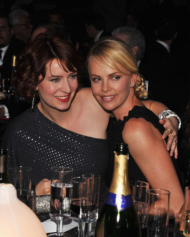 """<a href=""""http://movies.yahoo.com/movie/contributor/1809215786"""">Diablo Cody</a> and <a href=""""http://movies.yahoo.com/movie/contributor/1800019484"""">Charlize Theron</a> at the 17th Annual Critics' Choice Awards reception in Hollywood on January 12, 2012."""