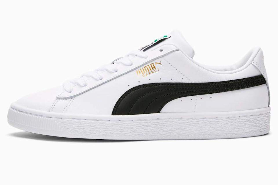 sneakers, puma, black, white, platform