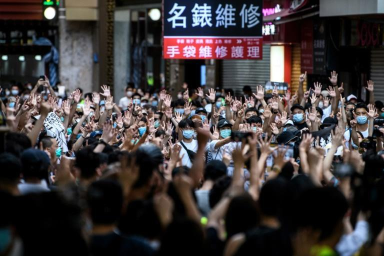 Thousands of people have been arrested in Hong Kong during pro-demoracy protests (AFP Photo/Anthony WALLACE)
