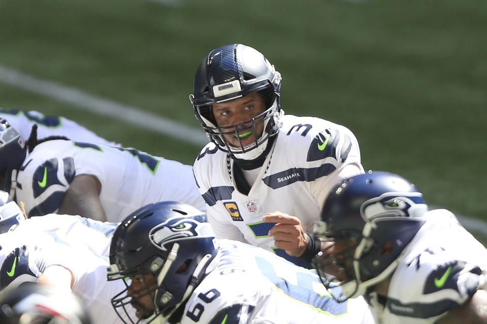 Russell Wilson (3) of the Seattle Seahawks
