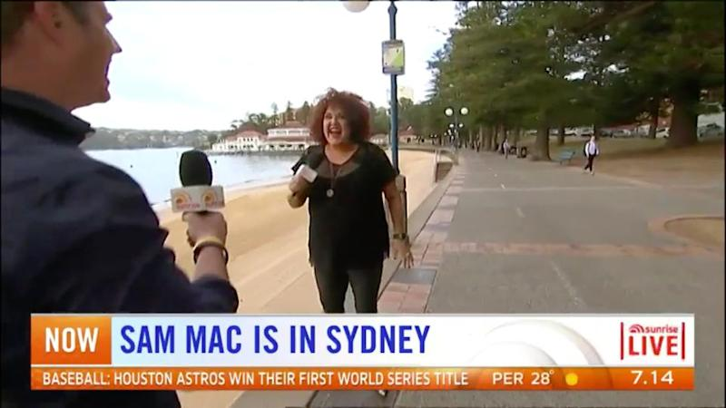 While appearing on Sunrise last week, Casey showed off her slimmed down figure in a flattering all black outfit. Source: Seven
