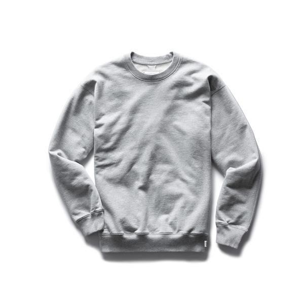 """<p>reigningchamp.com</p><p><strong>$125.00</strong></p><p><a href=""""https://shop.reigningchamp.com/collections/mens-sweatshirts/products/midweight-terry-relaxed-crewneck-h-grey"""" rel=""""nofollow noopener"""" target=""""_blank"""" data-ylk=""""slk:BUY IT HERE"""" class=""""link rapid-noclick-resp"""">BUY IT HERE</a></p><p>If you're on the hunt for the perfect sweats, Reigning Champ is one of the best men's clothing brands to check out. They've managed to master the art of the understated, creating pieces that have the right amount of ease, comfort, and style to them, without the flash of branding and logos. Wear their super-soft <a href=""""https://shop.reigningchamp.com/collections/mens-bottoms/products/midweight-terry-cuffed-sweatpant-h-grey"""" rel=""""nofollow noopener"""" target=""""_blank"""" data-ylk=""""slk:sweatpants"""" class=""""link rapid-noclick-resp"""">sweatpants</a> with a blazer on top for your next zoom call or pair one of their super-soft <a href=""""https://shop.reigningchamp.com/collections/mens-t-shirts/products/deltapeak-90-training-shirt-navy"""" rel=""""nofollow noopener"""" target=""""_blank"""" data-ylk=""""slk:T-shirts"""" class=""""link rapid-noclick-resp"""">T-shirts</a> with anything in your closet.</p>"""