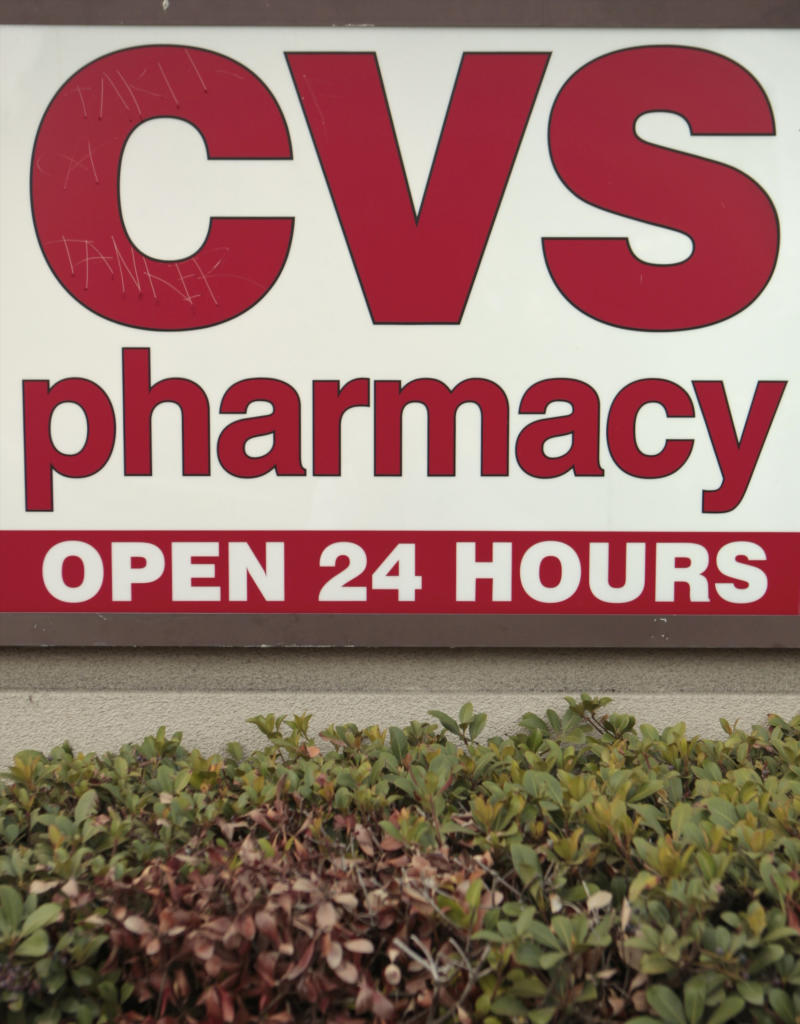 A CVS Pharmacy logo is seen on Thursday, Oct. 14, 2010, downtown Los Angeles. CVS Pharmacy Inc. has agreed to pay $75 million in fines for allowing repeated purchases of a key ingredient in the making of methamphetamine in at least five states that authorities say also led to a spike in Southern California drug trafficking. The nation's largest operator of retail pharmacies will pay what federal prosecutors say is the largest civil penalty ever assessed under the Controlled Substances Act. (AP Photo/Damian Dovarganes)