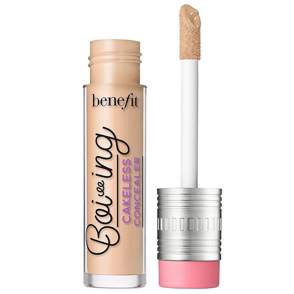 """<p><strong>Benefit Cosmetics</strong></p><p>ulta.com</p><p><a href=""""https://go.redirectingat.com?id=74968X1596630&url=https%3A%2F%2Fwww.ulta.com%2Fboi-ing-cakeless-concealer%3FproductId%3Dpimprod2007903&sref=https%3A%2F%2Fwww.bestproducts.com%2Fbeauty%2Fg33899927%2Fulta-21-days-of-beauty-sale-2020%2F"""" rel=""""nofollow noopener"""" target=""""_blank"""" data-ylk=""""slk:Shop Now"""" class=""""link rapid-noclick-resp"""">Shop Now</a></p><p><del>$22</del><br><strong>$11</strong></p><p>Conceal blemishes and under-eye circles with this top-rated concealer. This lightweight, easy-to-blend formula leaves a crease-free finish and reveals an even, blemish-free complexion without smudging or budging for hours on end.</p>"""