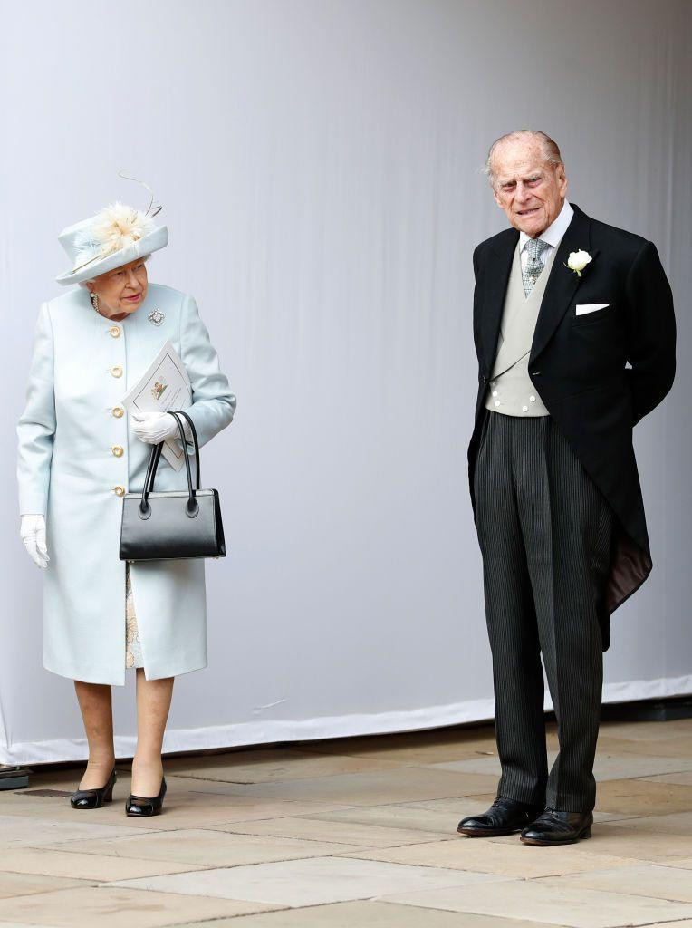 <p>After the wedding of their granddaughter Princess Eugenie to Jack Brooksbank in Windsor.</p>