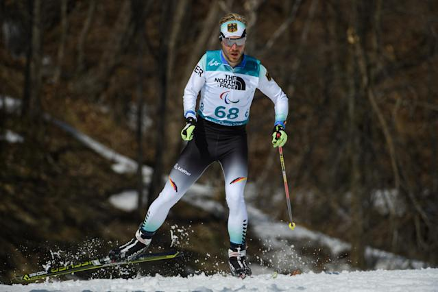 Steffen Lehmker GER competes during the Biathlon Standing Men's 12.5km at the Alpensia Biathlon Centre. The Paralympic Winter Games, PyeongChang, South Korea, Tuesday 13th March 2018. OIS/IOC/Thomas Lovelock/Handout via Reuters