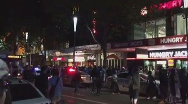 Gang members rampaged the streets of Melbourne during the Moomba festival, robbing and assaulting people, and damaging vehicles. Source: 7 News