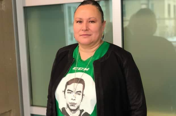 Melody Ayoungman says her son Kristian, a popular 24-year-old hockey player and champion pow wow dancer from the Siksika First Nation in southern Alberta, was killed on March 17, 2019.