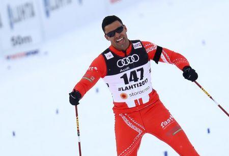 FILE PHOTO - FIS Nordic Ski World Championships - Men's Cross Country - Qualification - Lahti, Finland - 23/2/17 - Pita Taufatofua of Tonga competes. REUTERS/Kai Pfaffenbach