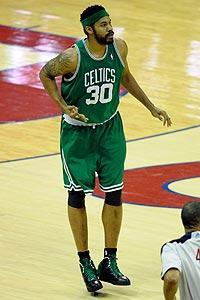 Rasheed Wallace averaged 9.0 points and 4.1 rebounds per game for the Celtics during the 2009-10 season