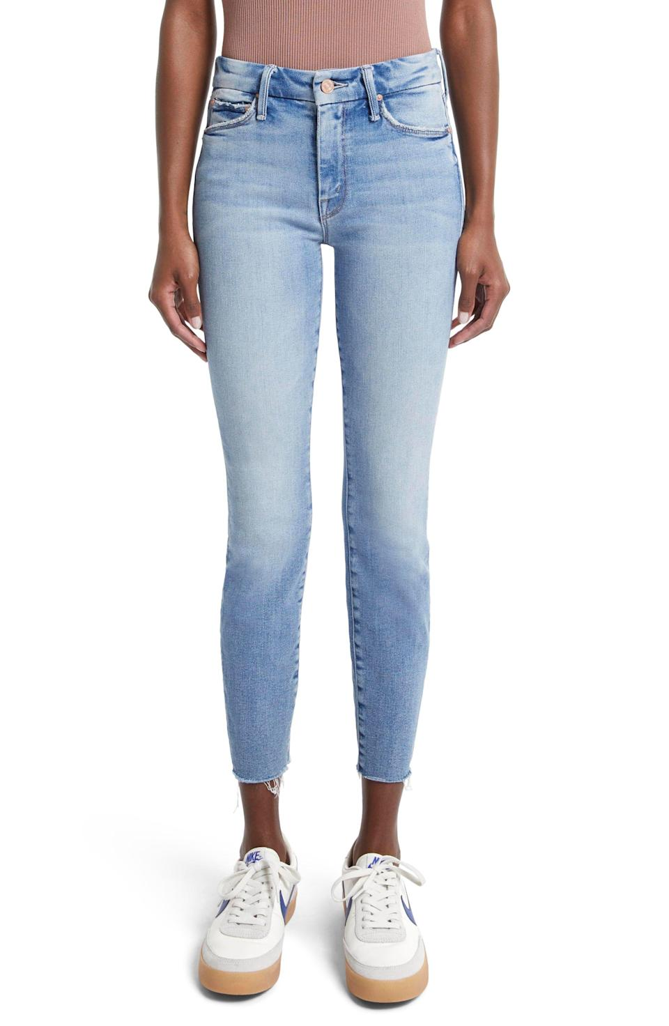 """<p><strong>MOTHER</strong></p><p>nordstrom.com</p><p><strong>$238.00</strong></p><p><a href=""""https://go.redirectingat.com?id=74968X1596630&url=https%3A%2F%2Fwww.nordstrom.com%2Fs%2Fmother-the-looker-fray-hem-ankle-skinny-jeans%2F5352619&sref=https%3A%2F%2Fwww.marieclaire.com%2Ffashion%2Fg35090742%2Fnordstrom-half-yearly-sale-2020%2F"""" rel=""""nofollow noopener"""" target=""""_blank"""" data-ylk=""""slk:Shop Now"""" class=""""link rapid-noclick-resp"""">Shop Now</a></p>"""