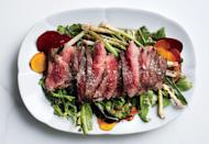 """If you don't feel like making aioli, use prepared mayonnaise—as long as it's Whole30 compliant—and season it with mustard and garlic. <a href=""""https://www.bonappetit.com/recipe/grilled-steak-salad-with-beets-and-scallions?mbid=synd_yahoo_rss"""" rel=""""nofollow noopener"""" target=""""_blank"""" data-ylk=""""slk:See recipe."""" class=""""link rapid-noclick-resp"""">See recipe.</a>"""