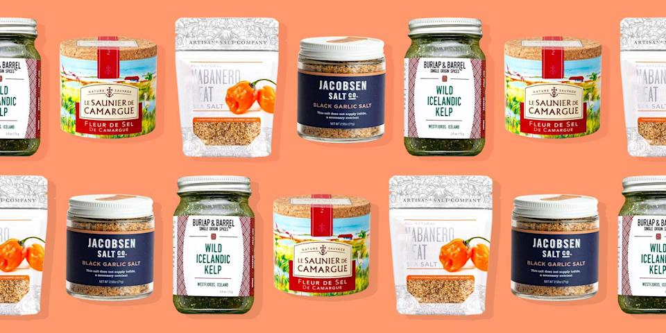 """<p>Think all salts are created equal? Honestly, we did too—until we <a href=""""https://www.oprahdaily.com/life/a36201631/ina-garten-interview-barn-kitchen/"""" rel=""""nofollow noopener"""" target=""""_blank"""" data-ylk=""""slk:interviewed Ina Garten"""" class=""""link rapid-noclick-resp"""">interviewed Ina Garten</a> (a.k.a. The Barefoot Contessa) and discovered she always has not one, but <em>three</em> gourmet salts on hand. """"Salt is the most important ingredient of all,"""" she told Oprah Daily. """"Most people think different types of salt are interchangeable, but that's not at all true.""""</p><p>According to Garten, salt is a natural mineral that can draw out and intensify the flavors in dishes both <a href=""""https://www.oprahdaily.com/life/food/g34284689/best-winter-desserts/"""" rel=""""nofollow noopener"""" target=""""_blank"""" data-ylk=""""slk:sweet"""" class=""""link rapid-noclick-resp"""">sweet</a> (chocolate chip cookies, ice cream...) and <a href=""""https://www.oprahdaily.com/life/g27062048/cookout-food-menu/"""" rel=""""nofollow noopener"""" target=""""_blank"""" data-ylk=""""slk:savory"""" class=""""link rapid-noclick-resp"""">savory</a> (like steak and pasta). That is, as long as you use the right one: Table salt, the highly-refined, usually iodized white stuff that's probably in your salt shaker, is best used for seasoning pasta water and—as the name suggests—adding a small dash at the table. Meanwhile, Kosher salt, which is considered to be the best salt for cooking, is made from slightly larger and grainier crystals that are particularly good at drawing out moisture from meat. Sea salt, on the other hand, is considered the most luxurious (and thus, most expensive) type of salt, made up of pyramid-shaped flakes or crystals harvested from coastal waters—and it tastes slightly less salty, perfect for adding a hit of flavor and crunch to finished dishes. </p><p>To help you stock your spice rack, we asked Garten and six other notable chefs to share what <em>they</em> regularly use. Ahead, the best gourmet salts—including popular varieties fr"""