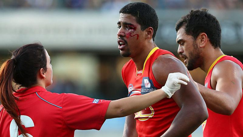Seen here, Joel Wilkinson during his AFL days with the Gold Coast Suns.