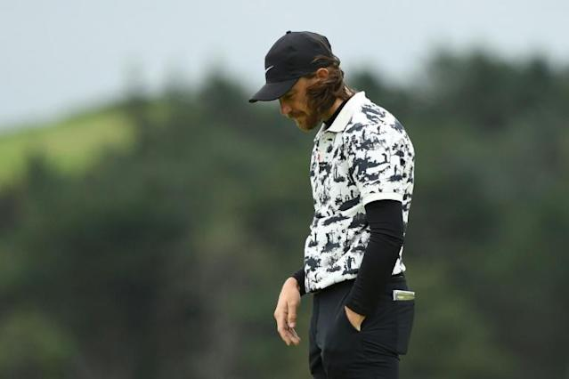 Second best: Tommy Fleetwood failed to put the pressure on British Open champion Shane Lowry (AFP Photo/Glyn KIRK)