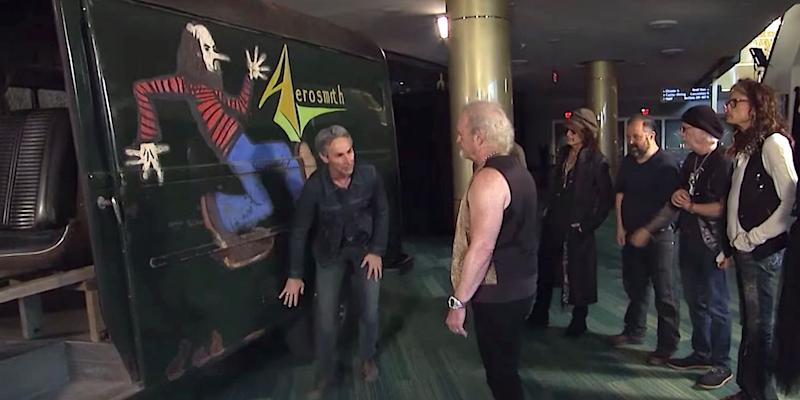 American Pickers hosts present Aerosmith with long-lost tour van: Watch