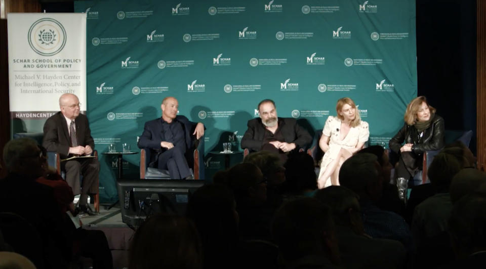 Gen. Michael Hayden (Ret.), Howard Gordon, Mandy Patinkin, Claire Danes and Lesli Linka Glatter