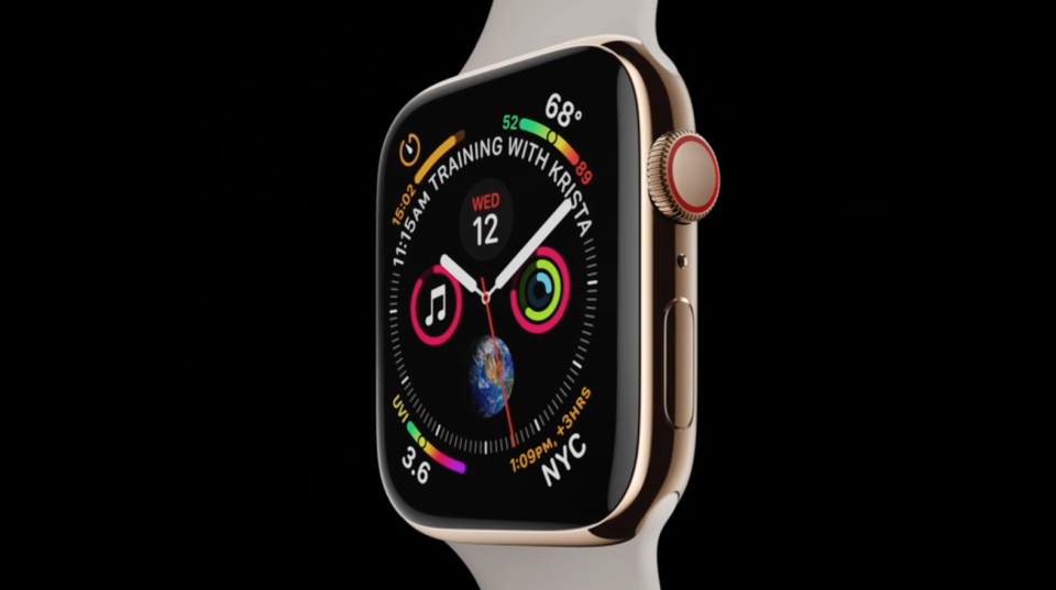 The all-new Apple Watch Series 4 with over 30% larger displays.