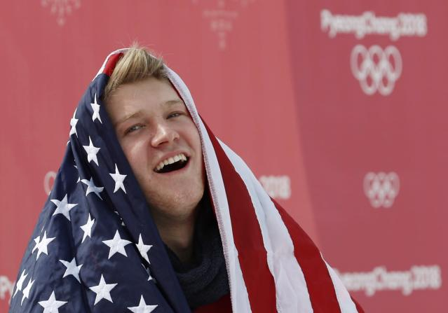 Kyle Mack won a silver medal in the men's big air event. (REUTERS)