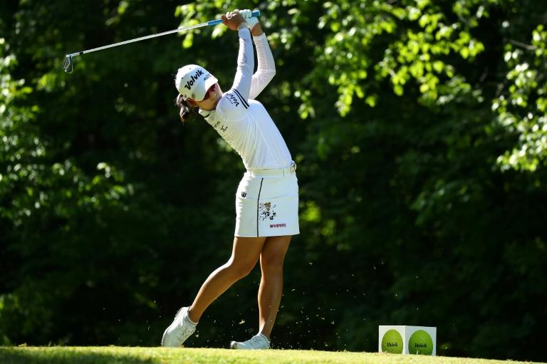 Former champion Kim Hyo-joo takes one-shot lead into Evian finale