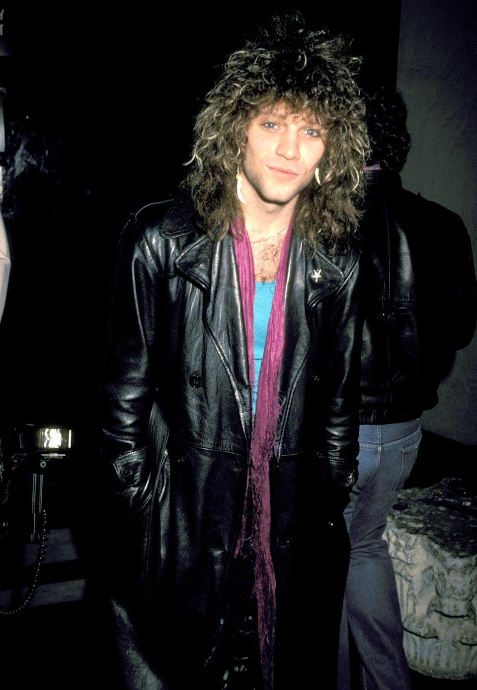 <p>Jon Bon Jovi was a bonafide '80s heartthrob with his curly and big hair. The singer rocked the look for years until transitioning to a more modern, short cut. </p>