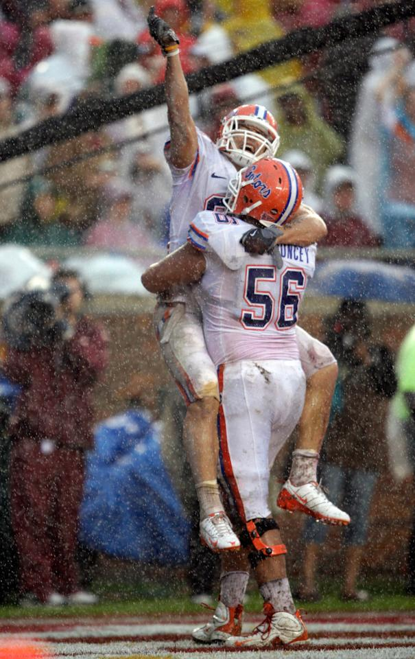 """<p>""""Aaron stood out, even among the football players,"""" says classmate Katie Benson Sears. """"The Gator football players were gods here. They weren't just big men on campus; they were known in the community. If they went to restaurants, the owners would want to take their pictures. Kids would come up for autographs. He had a swagger that made people notice him.""""</p>"""