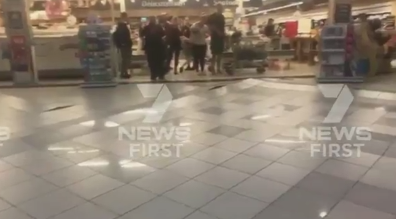 Coles evacuated as floor collapses