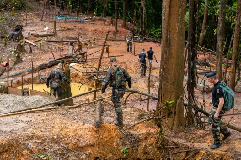 Every day, more than 500 soldiers, police and rangers are tasked with patrolling French Guiana's forests to try to drive out illegal gold mining