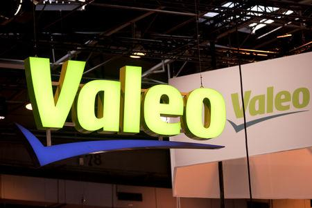 FILE PHOTO: The logo of Valeo is pictured during the Viva Tech start-up and technology summit in Paris