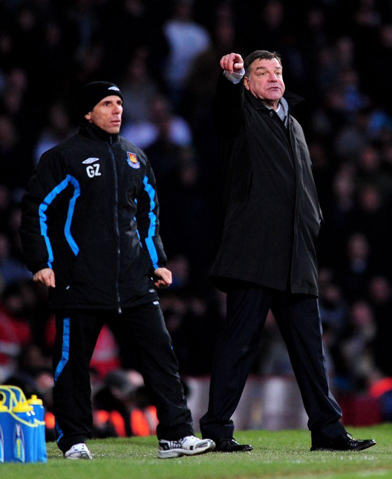 <p>2010: As Blackburn manager, giving out orders against West Ham, whose boss Gianfranco Zola looks on </p>