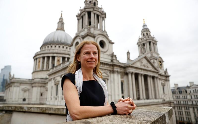 Natasha Landell-Mills, head of stewardship at Sarasin & Partners, poses for a photograph at their office in London