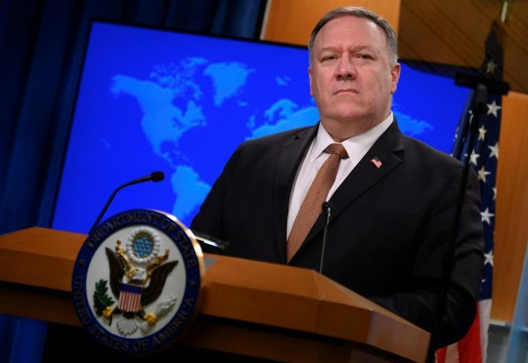 US Secretary of State Mike Pompeo, seen in March 2020, has redesignated Cuba as a state sponsor of terrorism