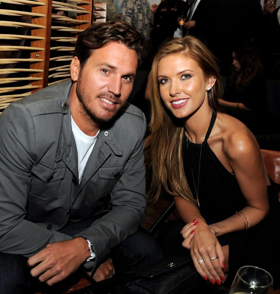 """<p>The Hills star Audrina Patridge and BMXer Corey Bohan were on and off <a href=""""https://www.eonline.com/news/881876/a-history-of-audrina-patridge-and-corey-bohan-s-romantic-ups-and-downs"""" rel=""""nofollow noopener"""" target=""""_blank"""" data-ylk=""""slk:more times than anyone could count"""" class=""""link rapid-noclick-resp"""">more times than anyone could count</a>. The pair started dating in 2008 and called it quits at least three times before getting engaged in November 2015. They welcomed their first child in June 2016 and tied the knot that November. In September 2017, Audrina filed for a domestic violence restraining order and filed for divorce two days later.</p>"""