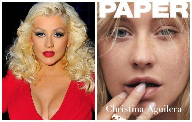 Glamour girl Christina Aguilera's raw photoshoot for Paper Magazine showed a side of her we never knew and we loved it. Source: Getty